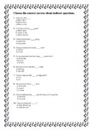 English Worksheets: indirect questons