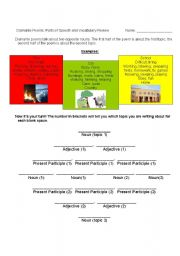 English Worksheet: Parts of Speech - Diamante Poems