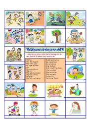 English Worksheet: Activity - Childhood and used to - 1