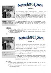 Worksheets September 11 Worksheets english worksheet new york september 11 2001