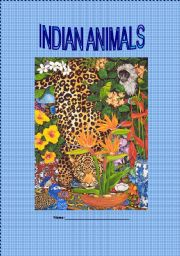 English Worksheets: Indian Animals Part 1 of 6 (Cover + Antelope)