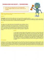 English Worksheets: TECHNOPHOBIA