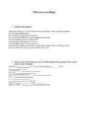 English Worksheets: What were you doing?
