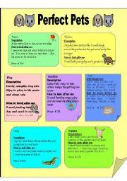 English Worksheets: perfect pets2-1