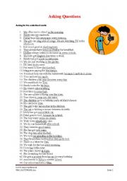 English Worksheets: Asking Questions for underlined words