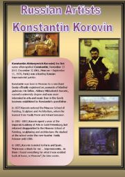 English Worksheets: Russian Artists-Konstantin Korovin