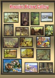 English Worksheets: Korovin�s picture gallery