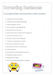 English Worksheets: Mistakes!!!!!!