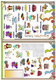 English Worksheet: Birthday party