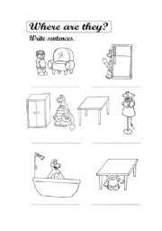 English Worksheets: Where are they?