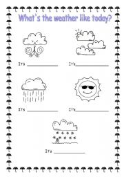 What S The Weather Like Today Esl Worksheet By Sophia13