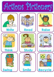 English Worksheets: ACTIONS PICTIONARY - SET 2