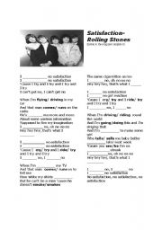 English Worksheets: Satisfaction- Rolling Stones