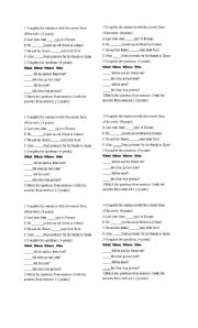 English Worksheets: Ten pointer