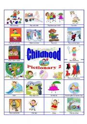 English Worksheet: Childhood pictionary 2