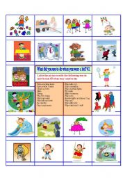 English Worksheet: Activity - Used to with childhood memories 2