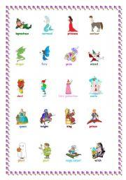 English Worksheets: FANTASY CHARACTERS