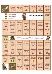 English Worksheet: Past tense game