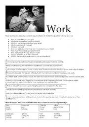 English Worksheets: Talking about work