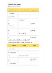 English Worksheets: mix exercises