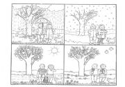 4 seasons coloring pages | Seasons worksheets, Seasons preschool ... | 126x180
