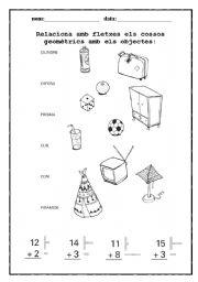 English Worksheets: Geometry worksheet