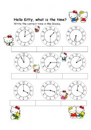 English Worksheet: Hello Kitty