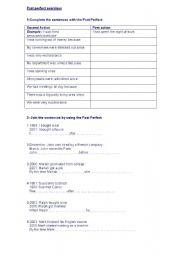 English worksheet: Past Perfect Exercises