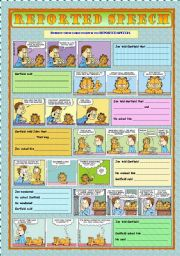 English Worksheet: Reported Speech with Garfield