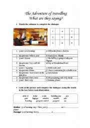 English Worksheets: THE ADVENTURE OF TRAVELLING - 3 PAGES