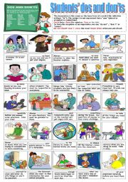 English Worksheet: STUDENTS´ DOS AND DON´TS (THE IMPERATIVE)