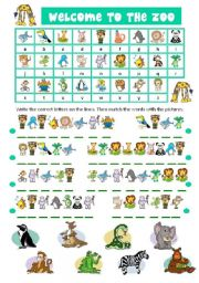 ZOO ANIMALS CRYPTOGRAM