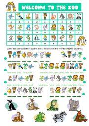English Worksheet ZOO ANIMALS CRYPTOGRAM