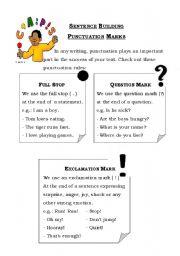 math worksheet : punctuation worksheets for kids  punctuation worksheets for kids  : Punctuation Worksheets For Kindergarten