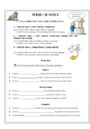 English Worksheets: WISH & IF ONLY