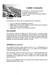 English Worksheets: Galt�r Avalanche