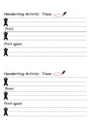 English Worksheets: Practice good penmanship