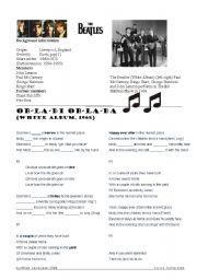 English Worksheets: The Beatles. Ob-La-Di Ob-La-Da