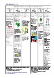 Prepositions of Time and Place - AT/ON/IN - Review Page + Exercises