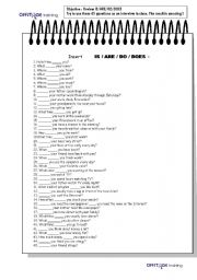 English Worksheets: IS_ARE_DO_DOES 45 questions