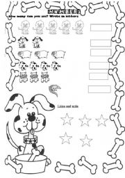 English Worksheets: Numbers 1 to 10