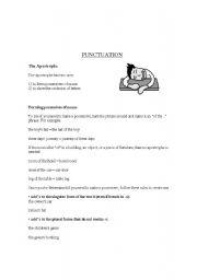 english teaching worksheets punctuation. Black Bedroom Furniture Sets. Home Design Ideas