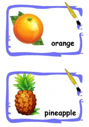 English Worksheet: Fruits flashcards 2
