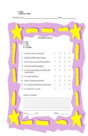 English worksheet: Writing assesment