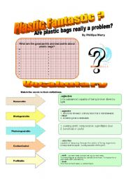 English Worksheets: Plastic Fantastic Activities