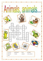 English Worksheet: Animals, animals...