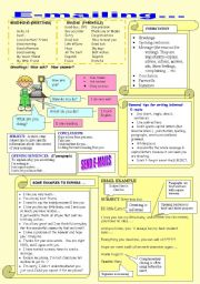 English Worksheet: Another activity using emails in pedagogical practices