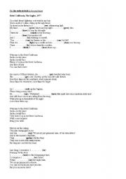 English Worksheets: Hotel California