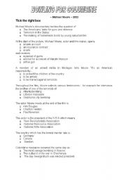 English Worksheet: Bowling for Columbine + South Park
