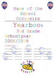 English Worksheets: Cover yearbook